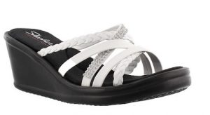 Wild Child White Wedge by Skechers