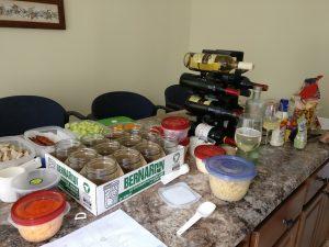 Making salads