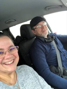 Holiday drive with husband